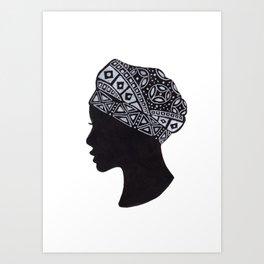 The Exotic of Turban Woman Art Print