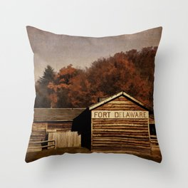 Fort Delaware Throw Pillow