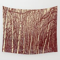 birch Wall Tapestries featuring Birch by Indigo Rayz