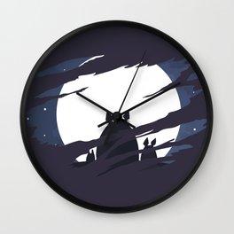 ghibli dark moon Wall Clock