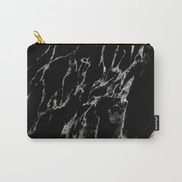 Black magic marble Carry-All Pouch