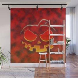 Screaming Pumpkin Wall Mural