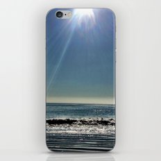 Sun over the waves. iPhone & iPod Skin