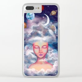 Spaced Clear iPhone Case