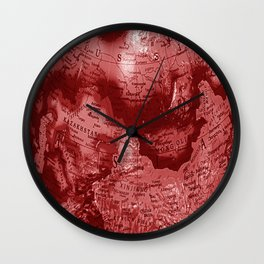 Russia in Red Wall Clock