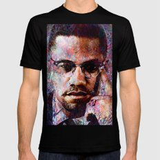 MALCOLM X LARGE Mens Fitted Tee Black