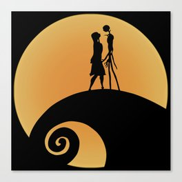 Jack & Sally Canvas Print