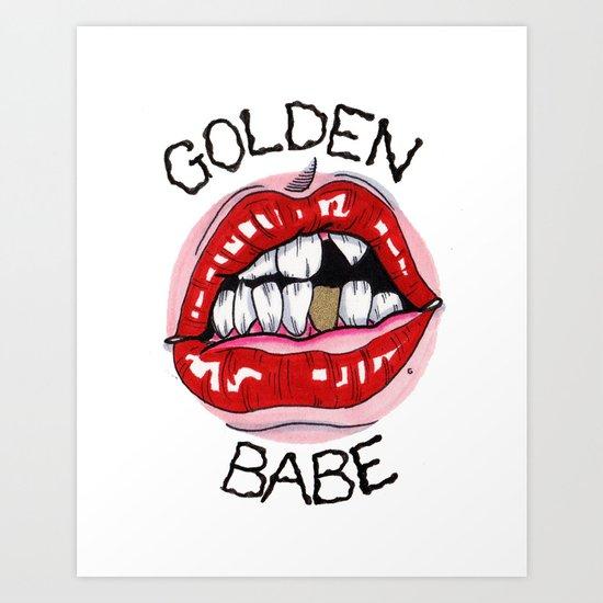 Golden Babe Art Print