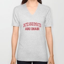 Abu Dhabi  United Arab Emirates City Souvenir Unisex V-Neck