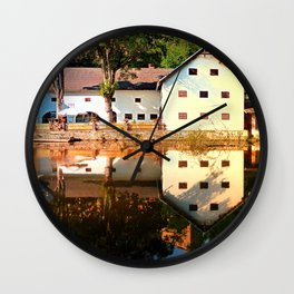 River reflections at the mill | waterscape photography Wall Clock