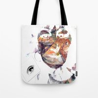 no face Tote Bags featuring Face by Laake-Photos