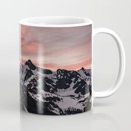 Pink Sky - Cascade Mountains - Nature Photography Coffee Mug