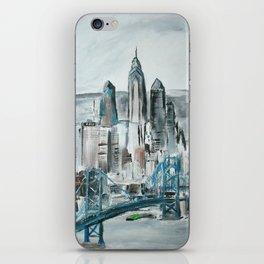 Philadelphia, Pennsylvania, USA Fine Art Acrylic Painting iPhone Skin