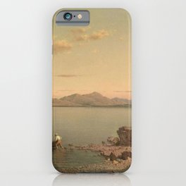 Lake George 1862 By Martin Johnson Heade | Reproduction iPhone Case