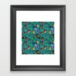 Ethnic Mermaid's Framed Art Print