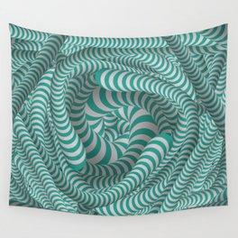 Mint green stripe design Wall Tapestry