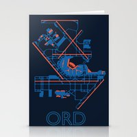 60s Stationery Cards featuring O'Hare (ORD) - 60s by Kyle Rodgers