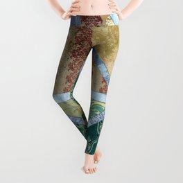 Abstract Geometric Painting 21 Leggings