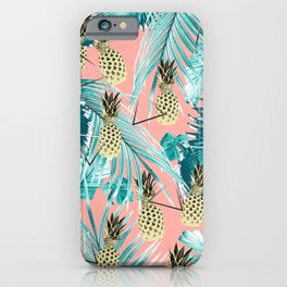 Tropical Pineapple Jungle Geo #6 #tropical #summer #decor #art #society6 iPhone Case