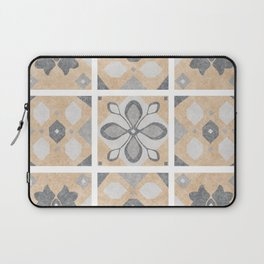 Terracotta Vintage Tiles Design Laptop Sleeve