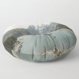 Lone Switzerland Tree - Landscape Photography Floor Pillow