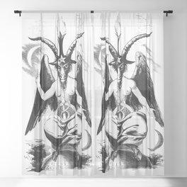 Baphomet - Satanic Church Sheer Curtain