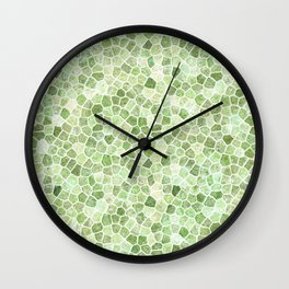 Pale Green Cobbled Patchwork Wall Clock