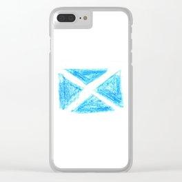 flag of scotland 6– scotland,scot,scottish,Glasgow,Edinburgh,Aberdeen,dundee,uk,cletic,celts,Gaelic Clear iPhone Case