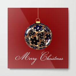 Merry Christmas Greetings Metal Print