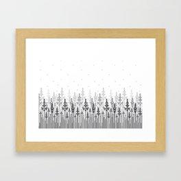 White field Framed Art Print