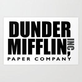 The Dunder Office Mifflin Inc. Design, T-Shirt, tshirt, tee, jersey, poster, Original Funny Gift Art Print