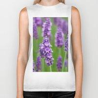 lavender Biker Tanks featuring lavender by GISMANA