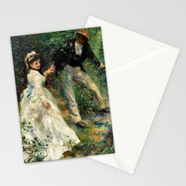 12,000pixel-500dpi - Pierre-Auguste Renoir - The Walk - Digital Remastered Edition Stationery Cards