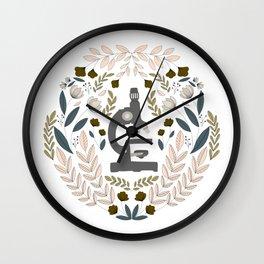Gray Folk Microscope Wall Clock