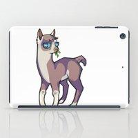 llama iPad Cases featuring Llama by Suzanne Annaars