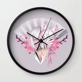Pink Manga Wall Clock