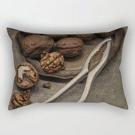 Still life with walnuts Rectangular Pillow