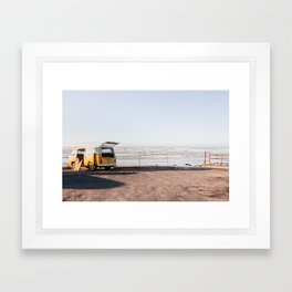 Yellow Bus Framed Art Print