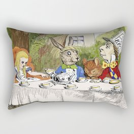 "Lewis Carroll, "" Alice's Adventures in Wonderland "" Rectangular Pillow"