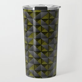 Tech Mosaic Yellow Travel Mug