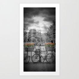 AMSTERDAM Gentlemen's Canal | upright panoramic view Art Print