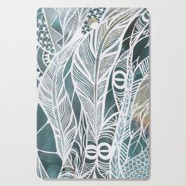 Feathery Design in Emerald Green Cutting Board