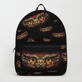 Skull And Beasts Pattern Backpack