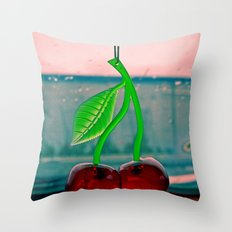 Classic cherries Throw Pillow