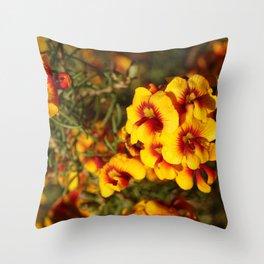 Parrot Pea Throw Pillow