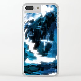 Electric Wave Clear iPhone Case