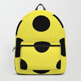 Giant Black and Lemon Yellow Polka Dot Pattern | Backpack