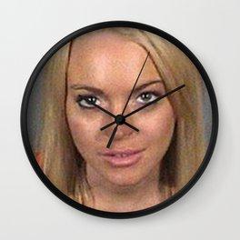 Lindsay Lohan Mug Shot Wall Clock