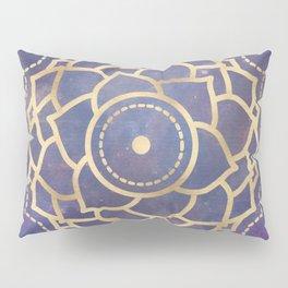 Mandala Chakra Copper and Purple Crown Chakra Pillow Sham