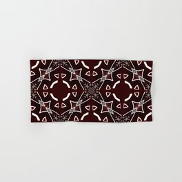 Red and White pattern Hand & Bath Towel